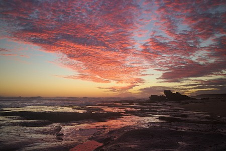 Red clouds after sunset at Merri Marine Sanctuary, Warrnambool