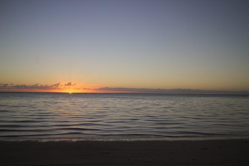 Sunrise in Samoa