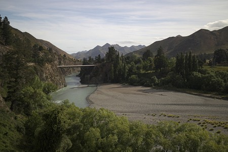 Bridge over the Waiau river near Hanmer Springs